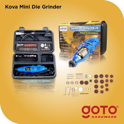Foto Produk Kova X-40 Blue Mini Die Grinder Set Turner Gerinda Bor Listrik Mini - Biru dari GOTO Hardware