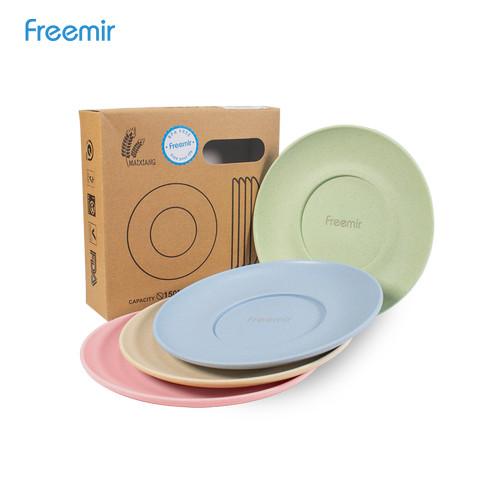 Foto Produk Freemir Piring Wheat Straw Plate 1 Set isi 4 pcs warna warni dari freemir Official Store