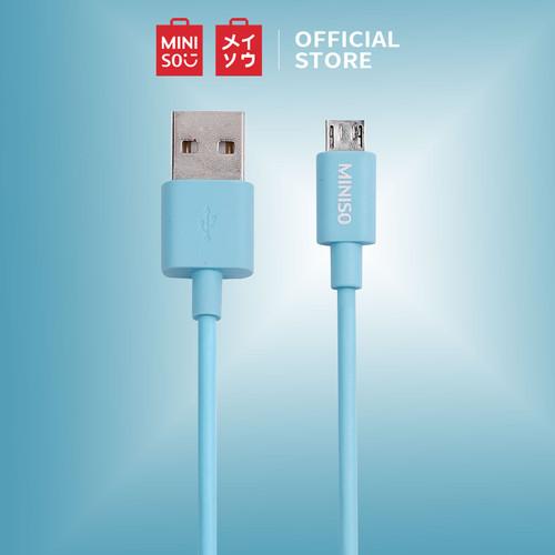 Foto Produk MINISO Kabel Data Fast Charging Pengisian Daya Micro USB Android 1m - Biru Muda dari Miniso Indonesia