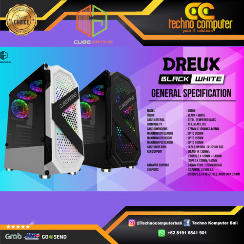 Foto Produk CUBE GAMING DREUX ATX - LEFT SIDE TEMPERED GLASS dari Techno Computer Bali