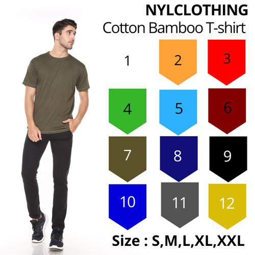 Foto Produk Kaos Polos Katun Bambu [Cotton Bamboo] - SIZE L - Maroon, S dari NYLclothing