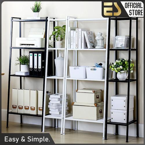 Foto Produk ES Rak Serbaguna Rak Susun Rak Buku Rak Tingkat Rak Ruang Tamu Susun - Putih, Kecil dari ES Official Store