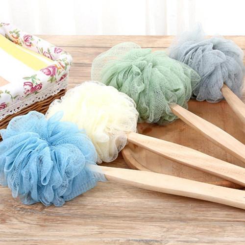 Foto Produk Spons Mandi dengan Gagang Kayu Panjang Gosok Punggung Body Scrub dari 21 scents