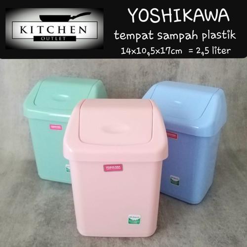 Foto Produk Tempat Sampah Plastik Tempat Sampah Yoshikawa Tutup Ayun dari KITCHEN OUTLET