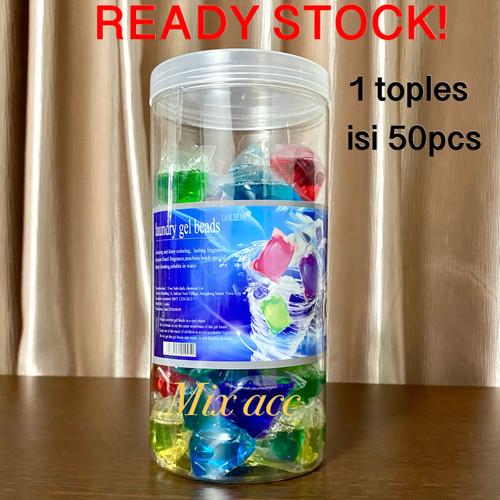 Foto Produk Sabun Cuci / Laundry Gel Beads 1 Box Isi 50pcs / Sabun Cuci Antiseptik dari Mix acc88