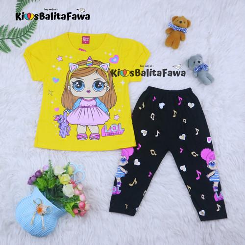 Foto Produk Setelan LOL uk 2-6 Tahun / Baju Anak Karakter Legging Perempuan Celana - 2-3th dari Kios Balita Fawa
