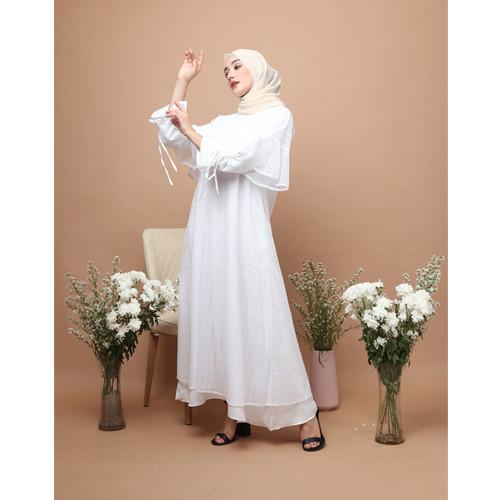 Foto Produk KNW Embroidery Broken White Lania Dress dari KNW