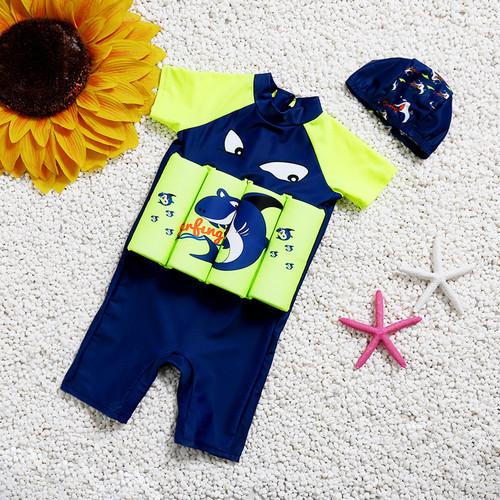 Foto Produk Baju Renang Anak Dengan Pelampung Laki Laki Topi Motif Shark BR1 - XL dari GrosirAksesorisFashion