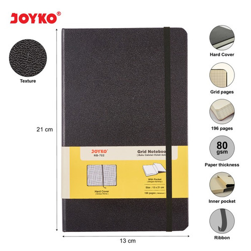 Foto Produk Joyko Grid Notebook Diary 13x21cm / 196 halaman / NB-702 dari Lix Art Supplies