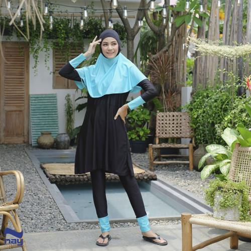 Foto Produk Baju Renang Muslimah - Raveena Swimwear Black-Tosca - S, Tosca dari Nay Sportswear