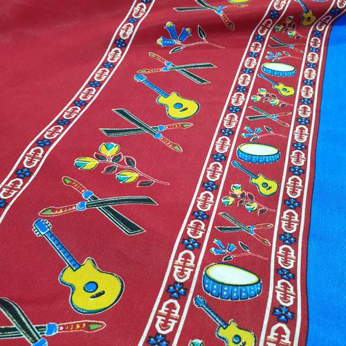 """Foto Produk kain motif khas Maluku Ambon merah MTR """"city of music"""" edition dari tokokoko"""