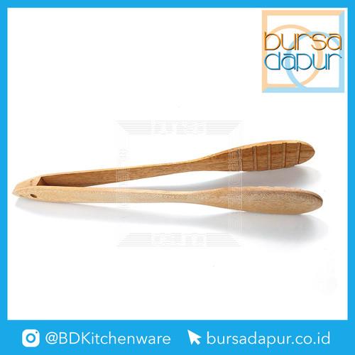 Foto Produk Japitan Makanan Kayu / Penjapit Kayu / Tong Kayu (Panjang 25 cm) dari Bursa Dapur