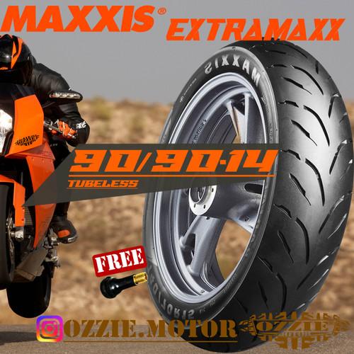 Foto Produk MAXXIS M6234W Extramaxx 90 90-14 Ban Tubeless Matic Beat Mio Vario dari Ozzie Motor