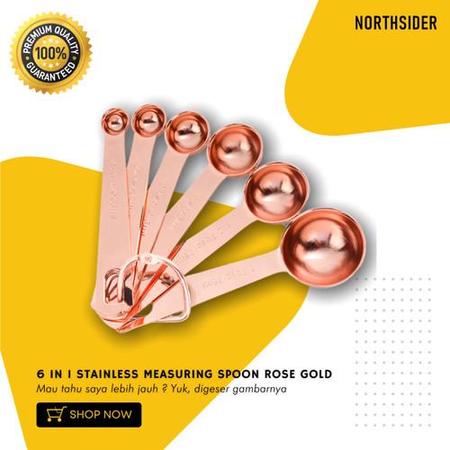 Foto Produk SENDOK TAKAR SET 6 IN 1 | MEASURING SPOON STAINLESS ROSE GOLD dari Northsider coffee shop