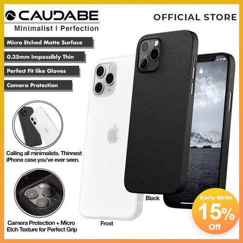 Foto Produk Original Caudabe Veil XT Case iPhone 12 Pro Max 12 Mini 12 Pro Casing - 12 Pro Max, Black dari Caudabe Official
