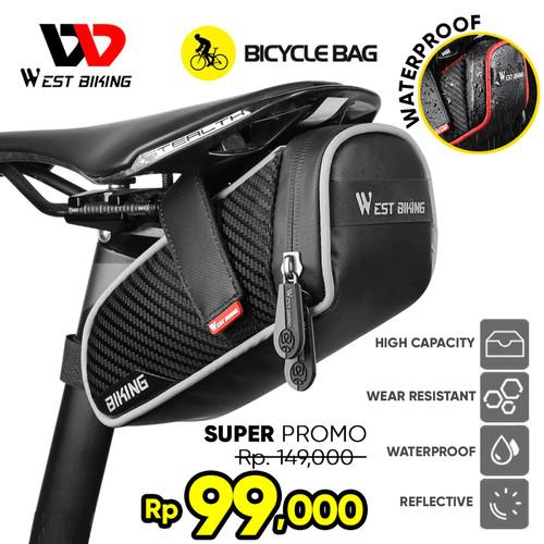 Foto Produk West Biking Tas Sepeda Lipat Roadbike MTB Tas Sadel Reflective B2 - Hitam dari West Biking Indonesia