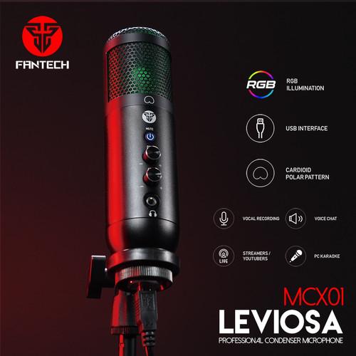 Foto Produk Fantech LEVIOSA MCX01 Condenser Microphone USB for PC Laptop Streaming dari Clover Gaming Indonesia