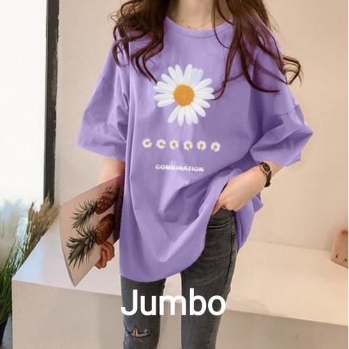 Foto Produk KAOS JUMBO WANITA LD 120 SUN FLOWER / OVER SIZE - LAVENDER, XXXL dari tunik muslim modern