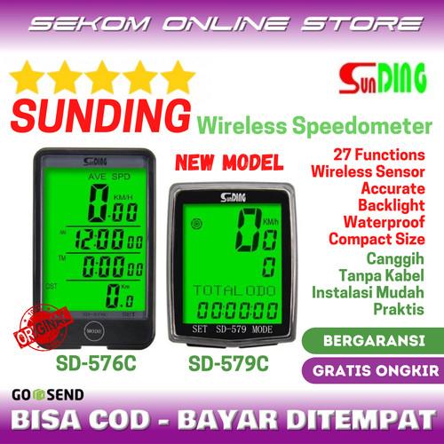 Foto Produk Speedometer Odometer Sepeda Sunding Wireless Bike SD-576C 577C 579C dari SEKOM ONLINE STORE