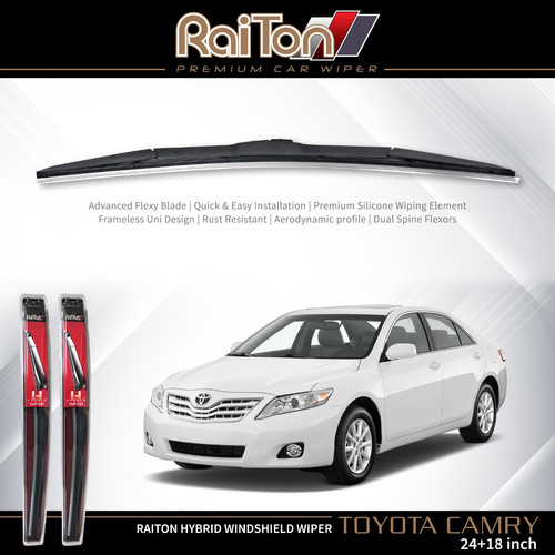 "Foto Produk Raiton Sepasang Wiper Hybrid Kaca Depan Mobil Toyota Camry 24"" & 18"" dari Raiton"