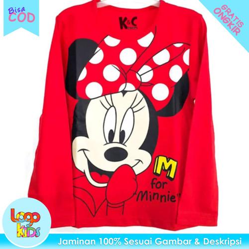 Foto Produk Kaos Anak Perempuan Lengan Panjang Logokids Minnie Mouse Red 1-10 Thn - 1 tahun dari logokids