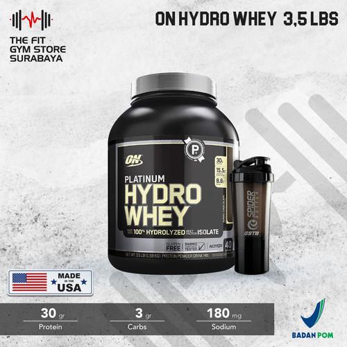 Foto Produk ON Optimum Nutrition Platinum HydroWhey 3.5 Lbs ON Hydro whey - Turbo chocolate dari the fit gym store