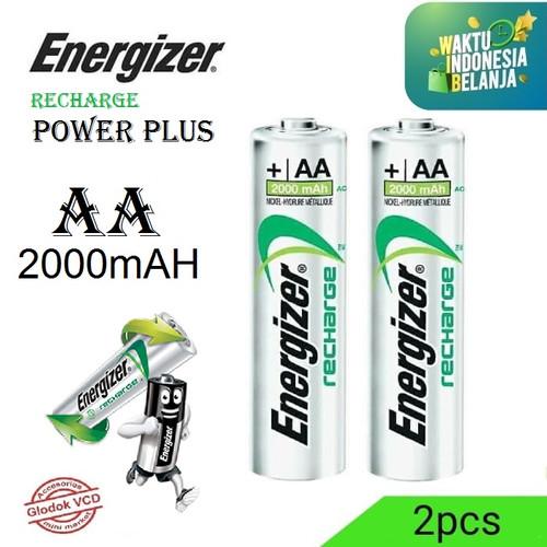 Foto Produk Energizer Baterai Rechargeable 2000mAh Power Plus AA isi 2pcs dari Glodok VCD