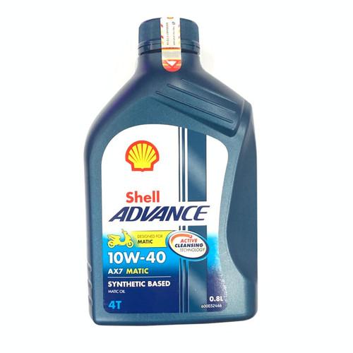 Foto Produk OLI SHELL MATIC ADVANCE AX7 4T SCOOTER 10W40 VARIO 125 BEAT HONDA dari Lestari Motor 2