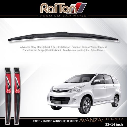 Foto Produk Raiton Wiper Hybrid Sepasang Kaca Depan Mobil Toyota New Avanza 22&14 dari Raiton