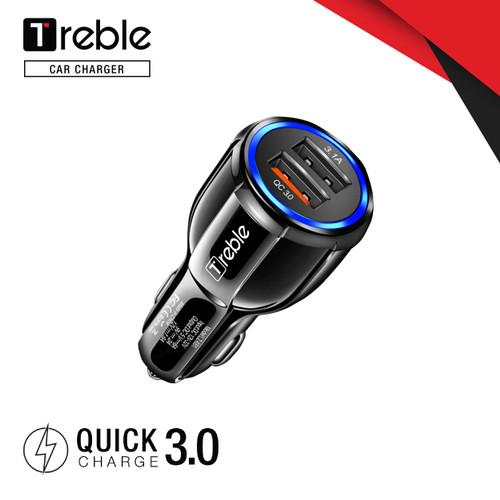 Foto Produk TREBLE Car Charger Colokan Mobil 2 Ports QC3.0 3.1A - TMC01 dari Trebleofficialstore