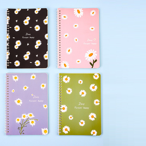 Foto Produk Buku Tulis A5 Motif Bunga Daisy Trendy MB0093 - daisy dari Meowmi Fancy Gift Shop