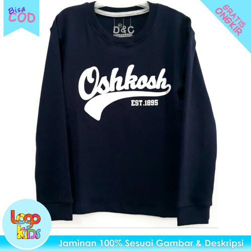 Foto Produk Logokids Kaos Anak Laki-Laki Lengan Panjang Oshkosh Navy 1-10 Tahun - 3-4 tahun dari logokids