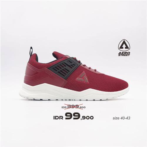 Foto Produk Aerostreet 40-43 Toyamaki Maroon - Sepatu Sneakers Sport Casual Pria - 40 dari Aerostreet