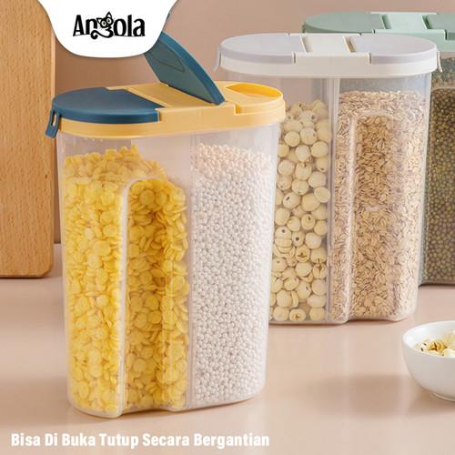 Foto Produk Storage Jar C32/C35 Tempat Penyimpana Cereal Kitchen Storage Bottle - Kecil, Biru dari Angola Official Store