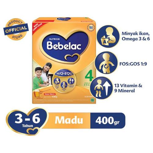 Foto Produk Bebelac 4 Madu Susu Bubuk 400gr dari Yen's Baby & Kid Official Shop