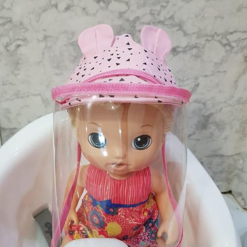 Foto Produk TOPI BAYI ANTI CORONA ANAK FASHION FACE SHIELD BAYI - Pink, S dari Lenz Shop 97