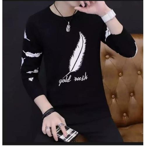Foto Produk FortKlass GOLD RUSH Sweater Hoodie Unisex Lengan Panjang Pria Wanita - Hitam dari FortKlass