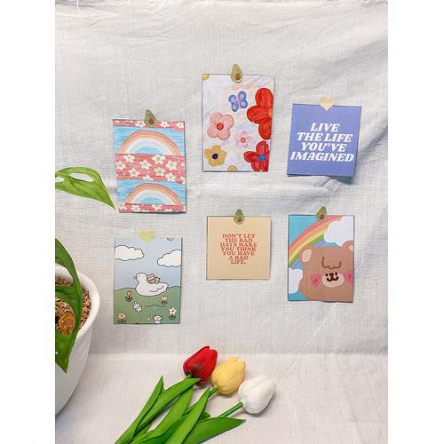 """Foto Produk Dekorasi Dinding Hias Korea - Postcard """"le Joy-tetik"""" - Wall Decor dari Aku si Estetik"""