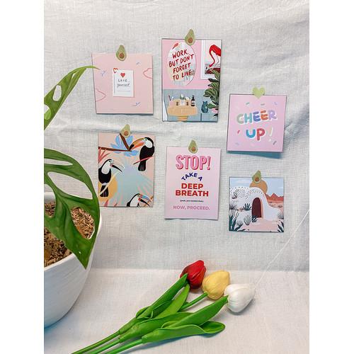 "Foto Produk Dekorasi Dinding Hias Korea - Postcard ""Pinky-tetik"" - Wall Decoration dari Aku si Estetik"