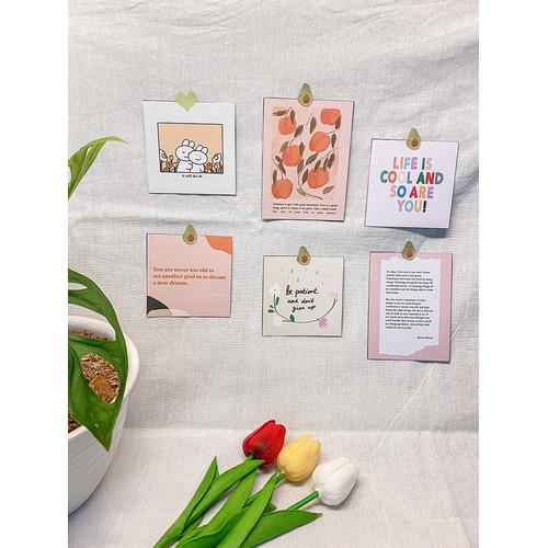 """Foto Produk Dekorasi Dinding Hias Korea - Postcard """"Peachy-tetik"""" - Wall Decor dari Aku si Estetik"""