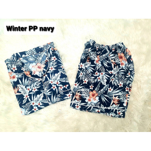 Foto Produk FortKlass MIX PP RAYON Piyama Baju Tidur Stelan Celana Pendek - WINTER NAVY dari FortKlass