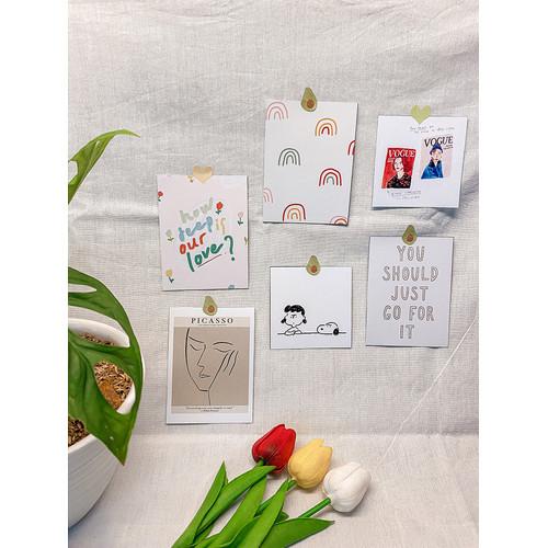 "Foto Produk Dekorasi Dinding Hias Korea - Postcard ""Whitey-tetik"" - Wall Decor dari Aku si Estetik"