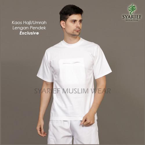 Foto Produk Kaos Haji/Umrah Pria Lengan Pendek - Exclusive dari Syarief Muslim Wear