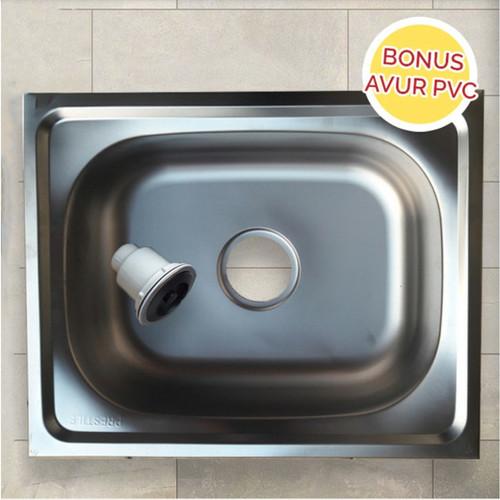 Foto Produk Bak Cuci Piring Single Bowl Stainless 50x40 PRESTILE / BCP + AFUR PVC dari CAHAYA TERANG SHOPP