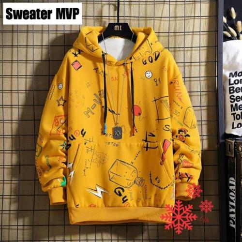 Foto Produk FortKlass MVP Sweater Hoodie Pria Sablon Lengan Panjang - Kuning dari FortKlass