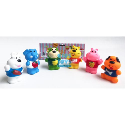 Foto Produk Baby Toys Vynil Lucu 6 pcs | Mainan Mandi Bayi dari ciustoys