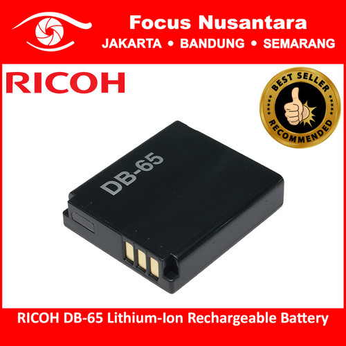Foto Produk RICOH DB-65 Lithium-Ion Rechargeable Battery dari Focus Nusantara