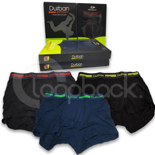Foto Produk Celana Dalam Boxer Pria / Boxer DURBAN Sport DU 669C 1 Box isi 1 pcs - M dari Loopback Shop