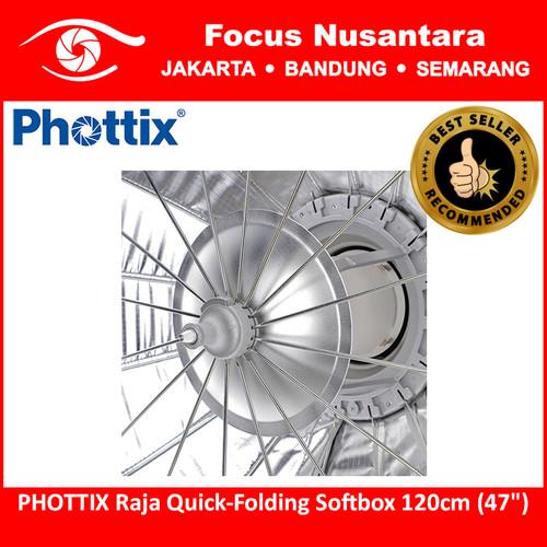 "Foto Produk PHOTTIX Raja Quick-Folding Softbox 120cm (47"") dari Focus Nusantara"