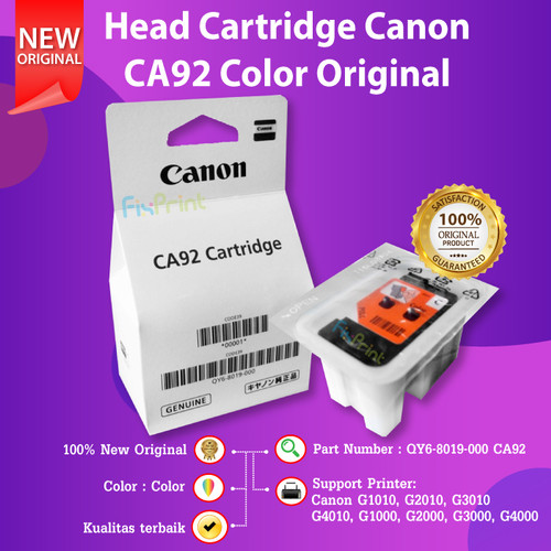 Foto Produk Print Head Cartridge CA91 CA92 Tinta Canon G1000 G2000 G1010 G2010 - CA91 Black dari FixPrint Indonesia